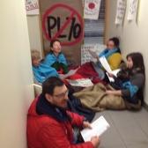 Campeurs et campeuses au bureau de Luc Blanchette - 17 février 2016